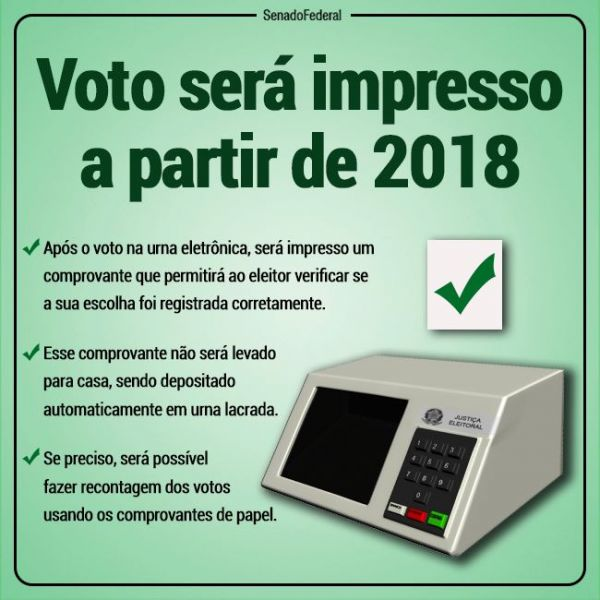 Resultado de imagem para urnas com voto impresso